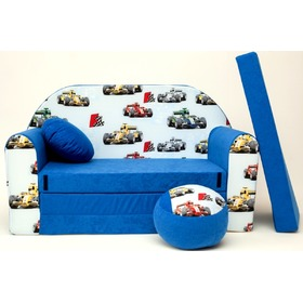 Formula 1 Children's Sofa Bed - Blue