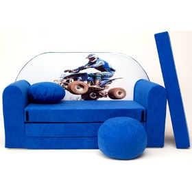 Kids' sofa Racer - blue