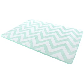 3D ZIG ZAG MINT & WHITE Children's Rug, Podlasiak