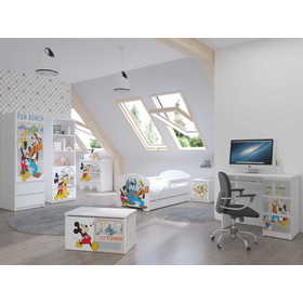 Baby bed with barrier - Mickey and Goofy - white, BabyBoo, Mickey Mouse Clubhouse
