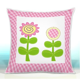 Pillow HAPPY Daisies PINK 17, CamelLeon