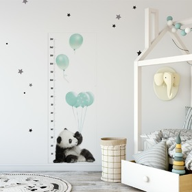 Children's growth chart DEKORNIK - Panda mint, Dekornik