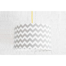Textile hanging lamp Cik cak - grey, YoungDeco