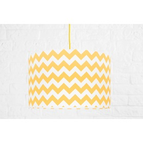 Textile hanging lamp Cik cak - yellow, YoungDeco