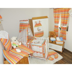 Linen to cribs - stripes red, Juramba