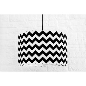 Textile hanging lamp Cik cak - black, YoungDeco