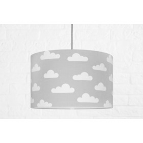 Textile hanging lamp Clouds - grey, YoungDeco