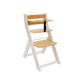 Children growing chair UNIZO - white / natur, Wood Partner