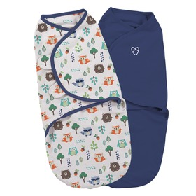 Swaddle blanket SwaddleMe S blue / forest motif 2pc, Summer Infant