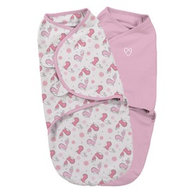 Children swaddle blanket SwaddleMe S pink / birds 2ks, Summer Infant