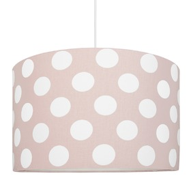 Textile hanging lamp Bullets - pink, YoungDeco