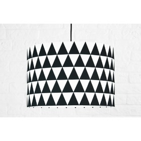 Textile hanging lamp Triangle - black, YoungDeco