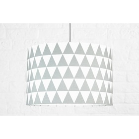 Textile hanging lamp Triangle - grey, YoungDeco