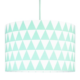 Textile hanging lamp Triangle - mint, YoungDeco