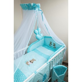 Crib bedding set 135x100cm Rabbit turquoise, Ankras