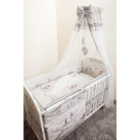 Set bedding to cribs 135x100cm Dreamer gray, Ankras