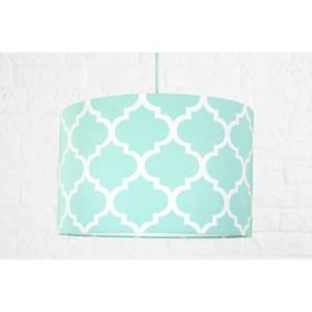 Textile hanging lamp Morocco - mint, YoungDeco