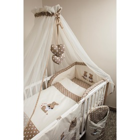Set bedding to cribs 135x100cm bunny brown, Ankras