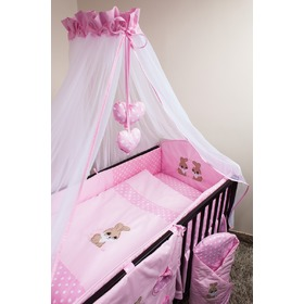 Crib bedding set 120x90cm Rabbit pink, Ankras