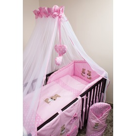 Set bedding to cribs 135x100cm Rabbit pink, Ankras