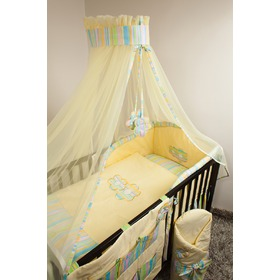 Set bedding to cribs 135x100cm Flowers yellow, Ankras