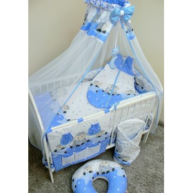 Set bedding to cribs 120x90cm Lamb blue, Ankras