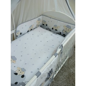 Set bedding to cribs 120x90cm Lamb grey, Ankras
