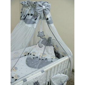 Bedding crib set 135x100cm Lamb grey, Ankras