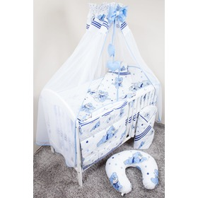 Set bedding to cribs 120x90cm Dreamer blue, Ankras