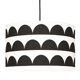 Textile hanging lamp Crescents - black, YoungDeco