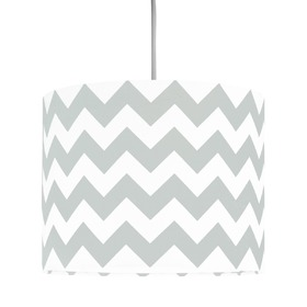 Textile hanging lamp Cik cak Mini - grey, YoungDeco
