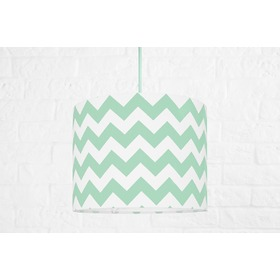 Textile hanging lamp Cik cak Mini - mint, YoungDeco