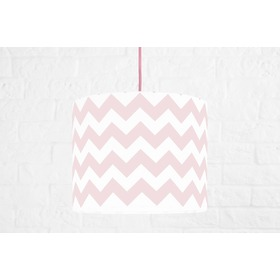 Textile hanging lamp Zig Zag Mini - pink, YoungDeco
