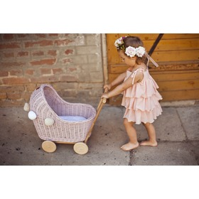 LILU Wicker stroller for dolls
