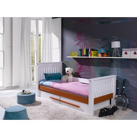 Children's bed Karin - white-cognac, Meblobed
