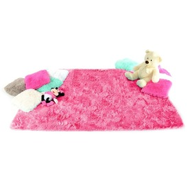 Children's Plush rug hot pink, Podlasiak