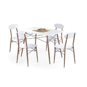 Record 1+4 Dining Furniture Set, Halmar