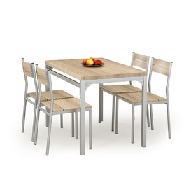 Malcolm 1+4 Dining Furniture Set, Halmar