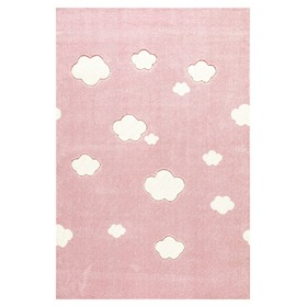 Children's rug Starlight pink and white