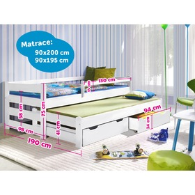 Children bed with bed - IN ADDITION white, Litdrew