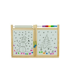 Children's magnetic / chalk wall board  - natural