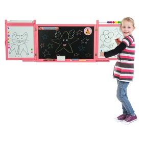 Children's magnetic / chalk board on a wall - pink, 3Toys.com