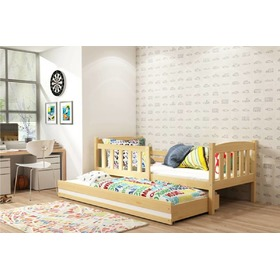 Children bed Exclusive with extra bed natural white detail