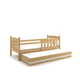 Children bed Exclusive with extra bed natural white detail, BMS