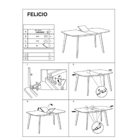 Dining convertible table Felicio, SIGNAL MEBLE