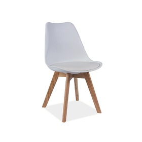 Dining chair Kris beech / white, SIGNAL MEBLE