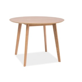 Round Dining table MOSSE II oak, SIGNAL MEBLE