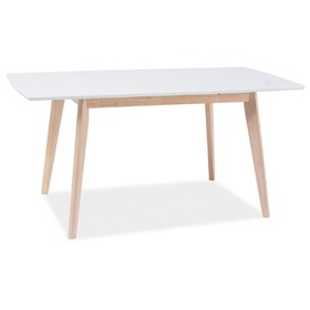 Dining table COMBO white / bleached oak, SIGNAL MEBLE