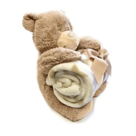 Children's blanket with teddy bear, Bobas