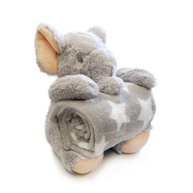 Children's blanket with elephant plushie, Bobas